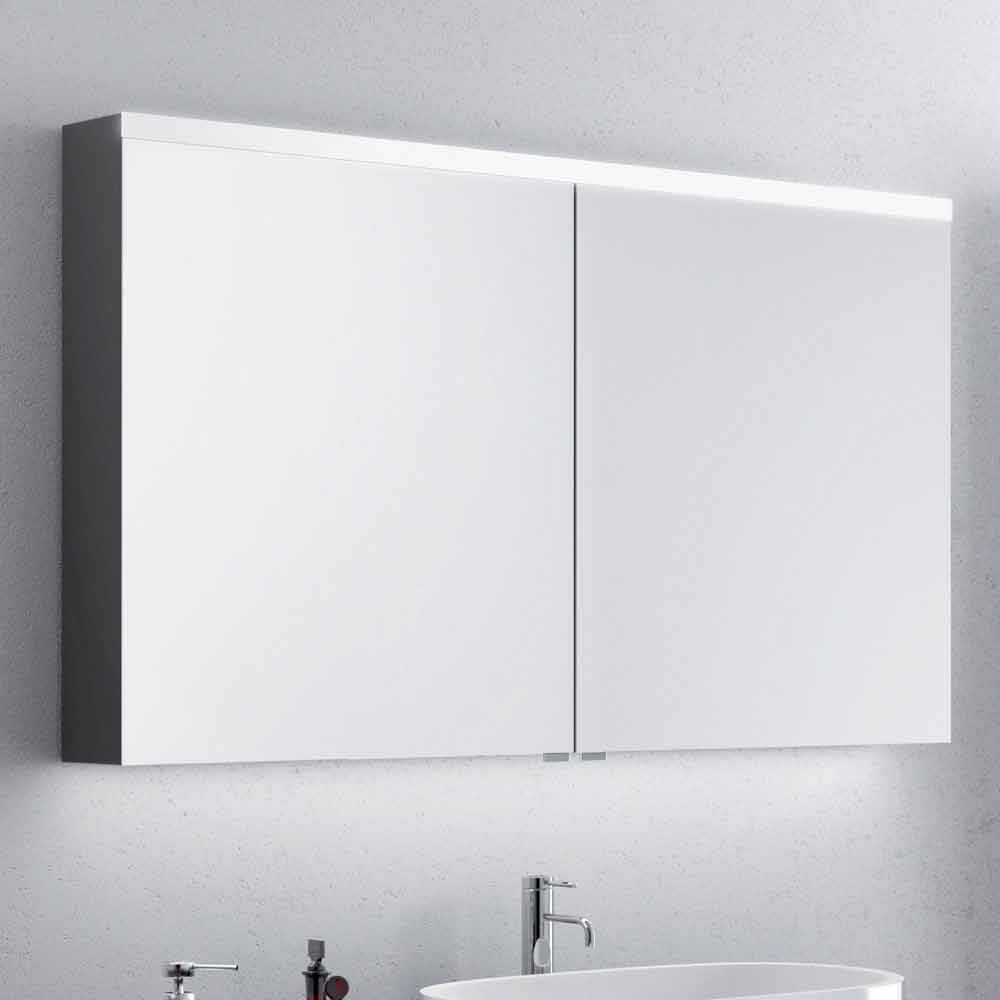 miroir pour salle de bain 2 portes avec led design moderne carol. Black Bedroom Furniture Sets. Home Design Ideas