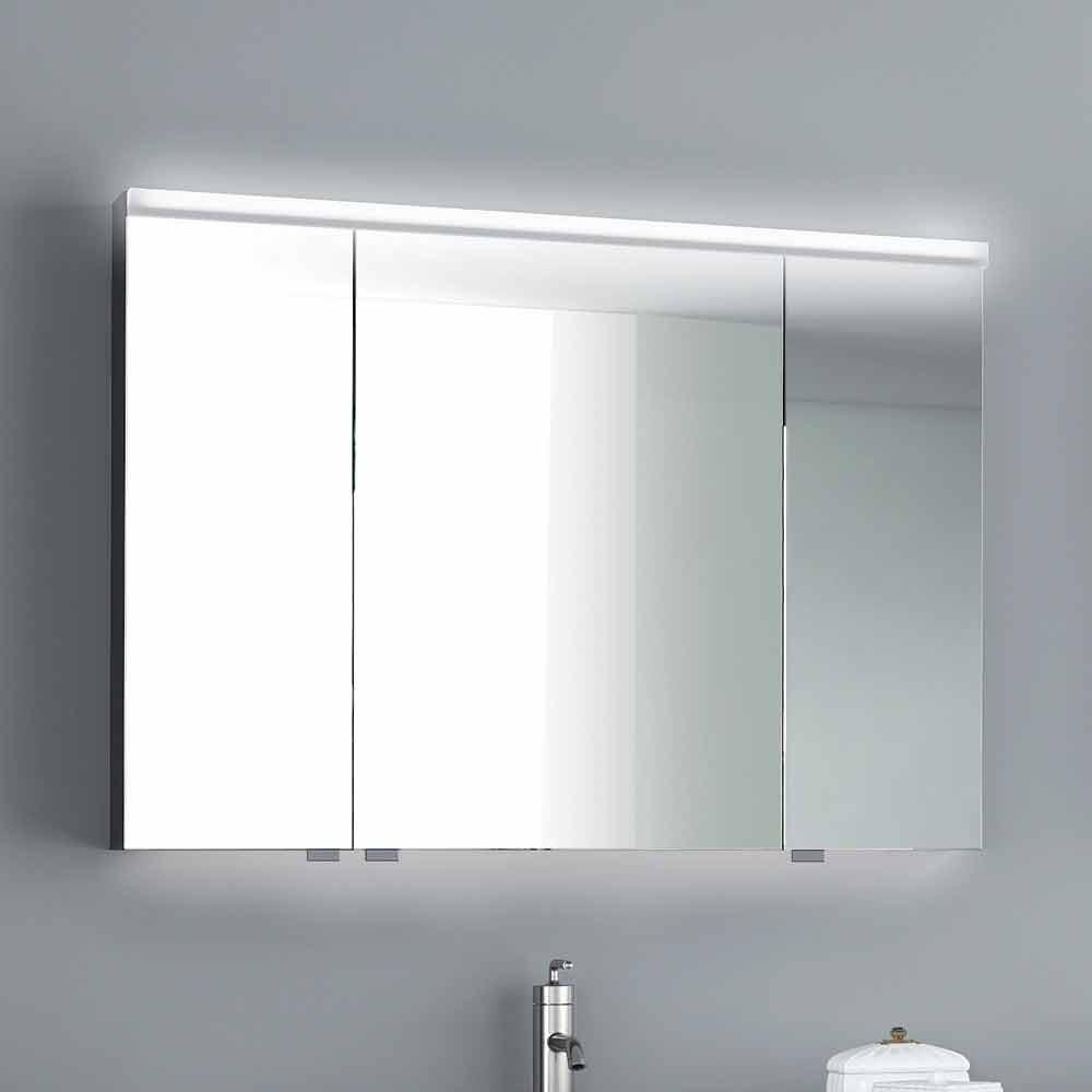 Miroir d 39 clairage led avec 3 portes design moderne carol for Miroir design moderne