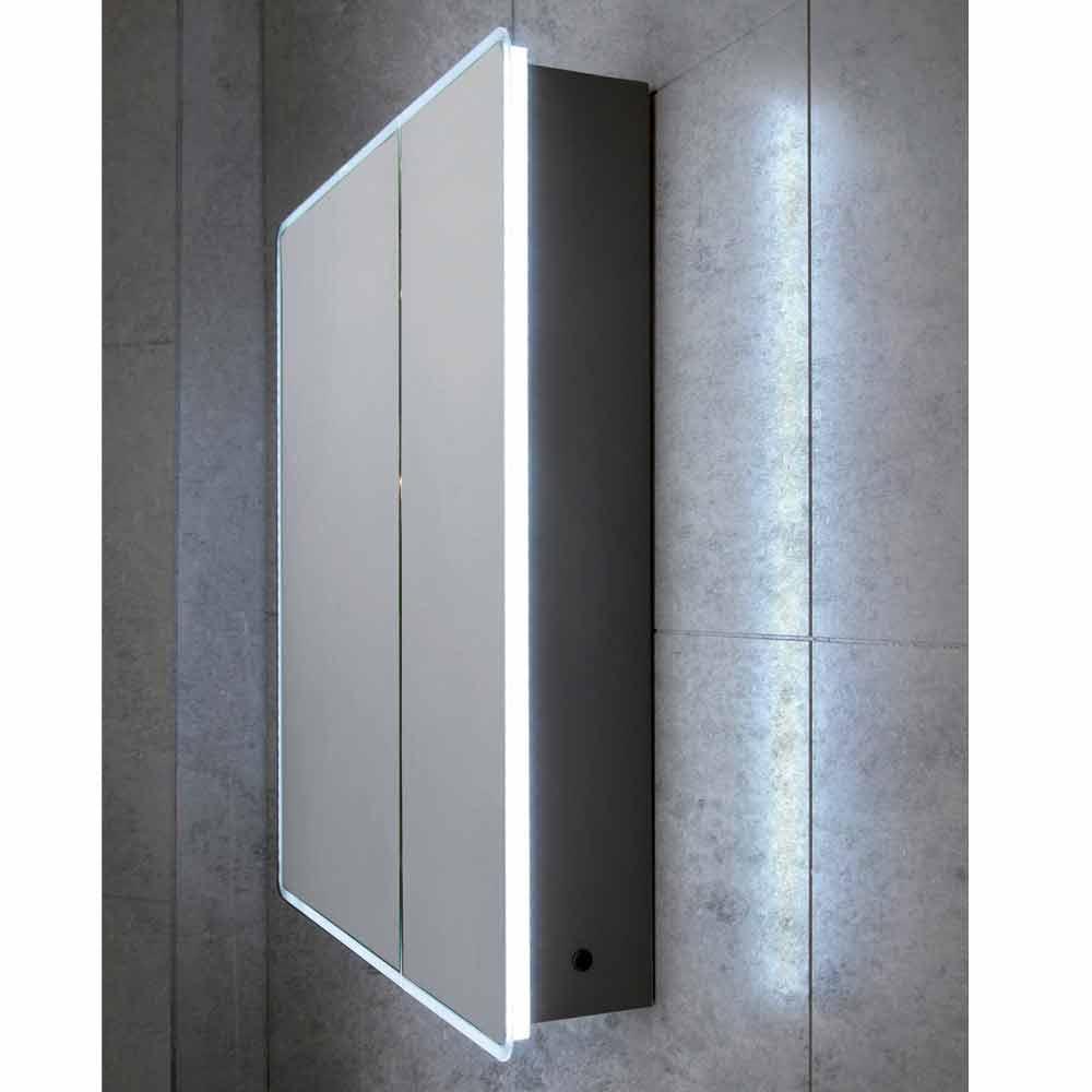 miroir moderne 2 portes avec lumi res led valter. Black Bedroom Furniture Sets. Home Design Ideas