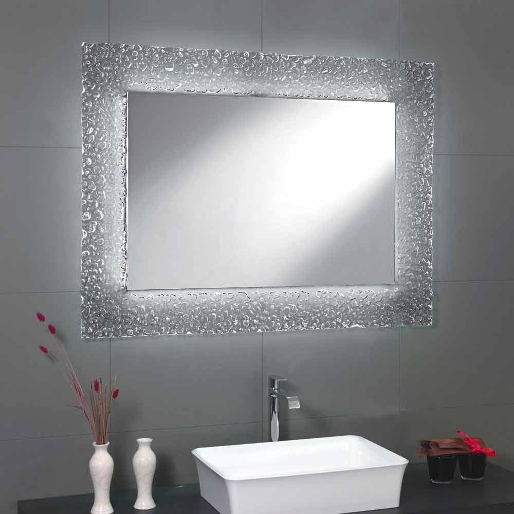Lumières De Salle De Bains miroir moderne de salle de bains avec la décoration de cadre en verre et  les lumières de tara de led
