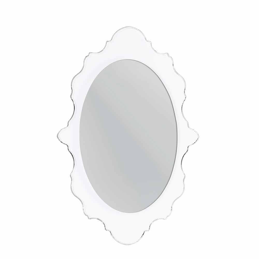 Miroir de design blanc avec cadre d cor joy fait en italie for Miroir cadre blanc