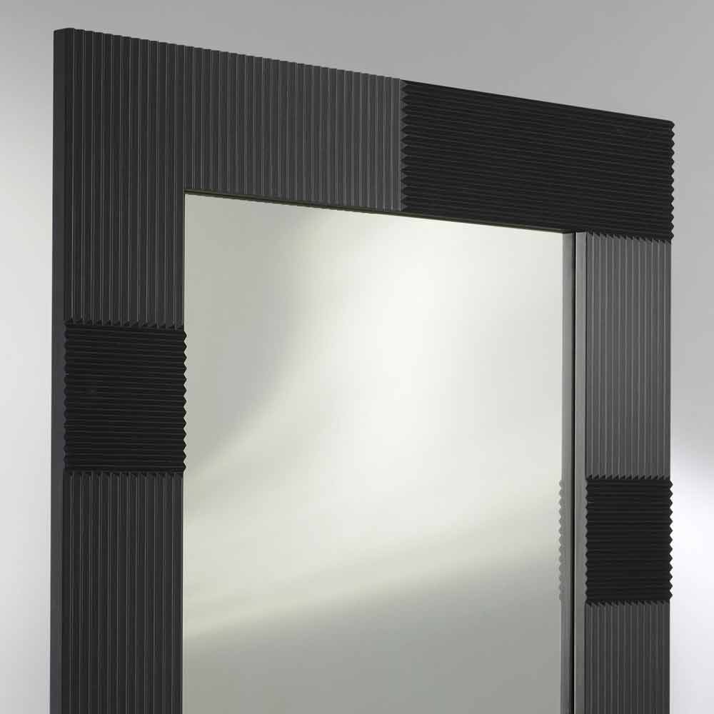 miroir mural design moderne avec cadre d cor yhalia. Black Bedroom Furniture Sets. Home Design Ideas
