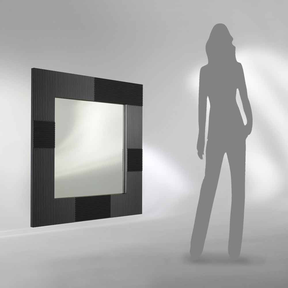 Miroir mural design moderne avec cadre d cor yhalia for Cadre mural design