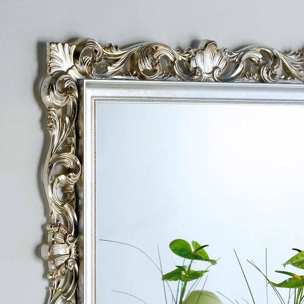 Miroir mural de design avec cadre d cor marsy 98x98 cm for Cadre mural design