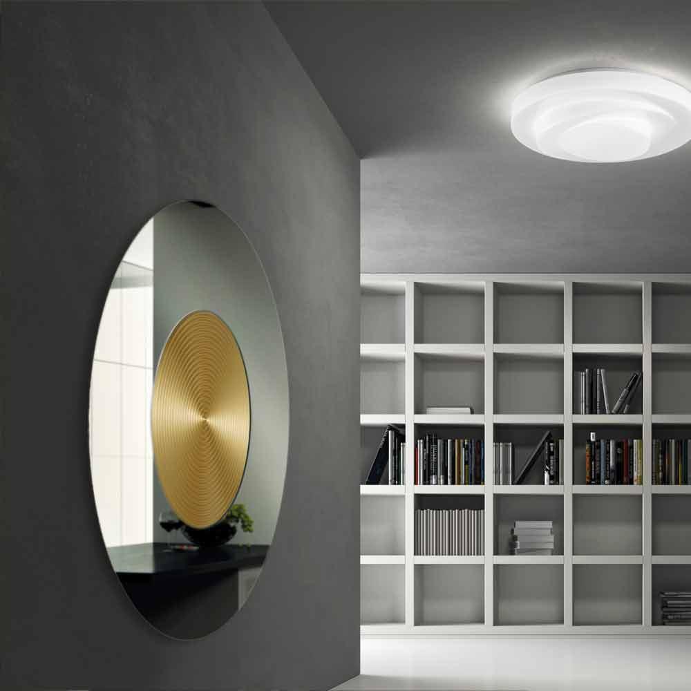 Deco avec miroir mural maison design - Miroir horizontal mural ...