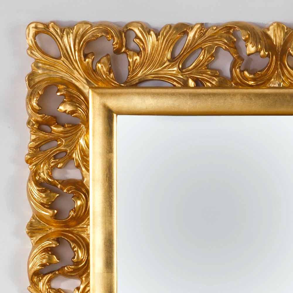 Miroir mural de design finissage d 39 or gudin 108x87 cm - Miroir horizontal mural ...