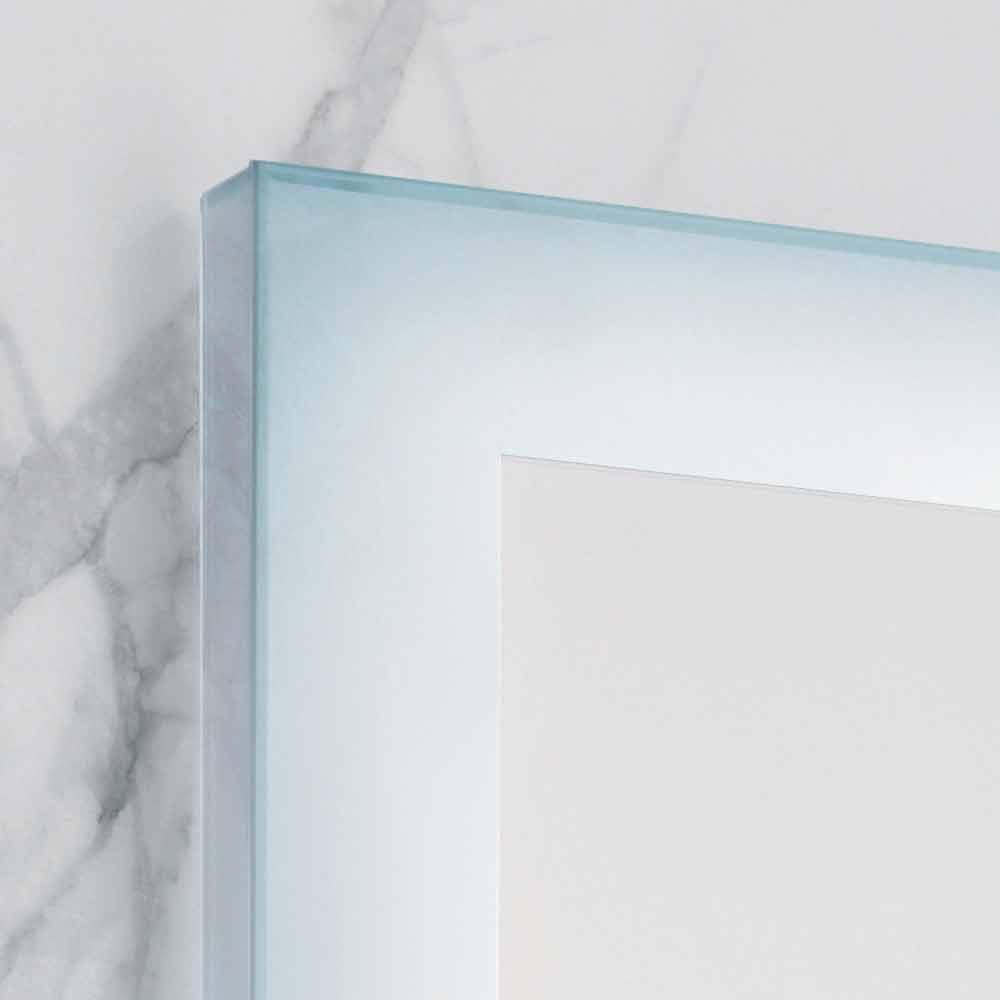Miroir moderne avec des bords en verre d poli clairage led ady for Miroir moderne
