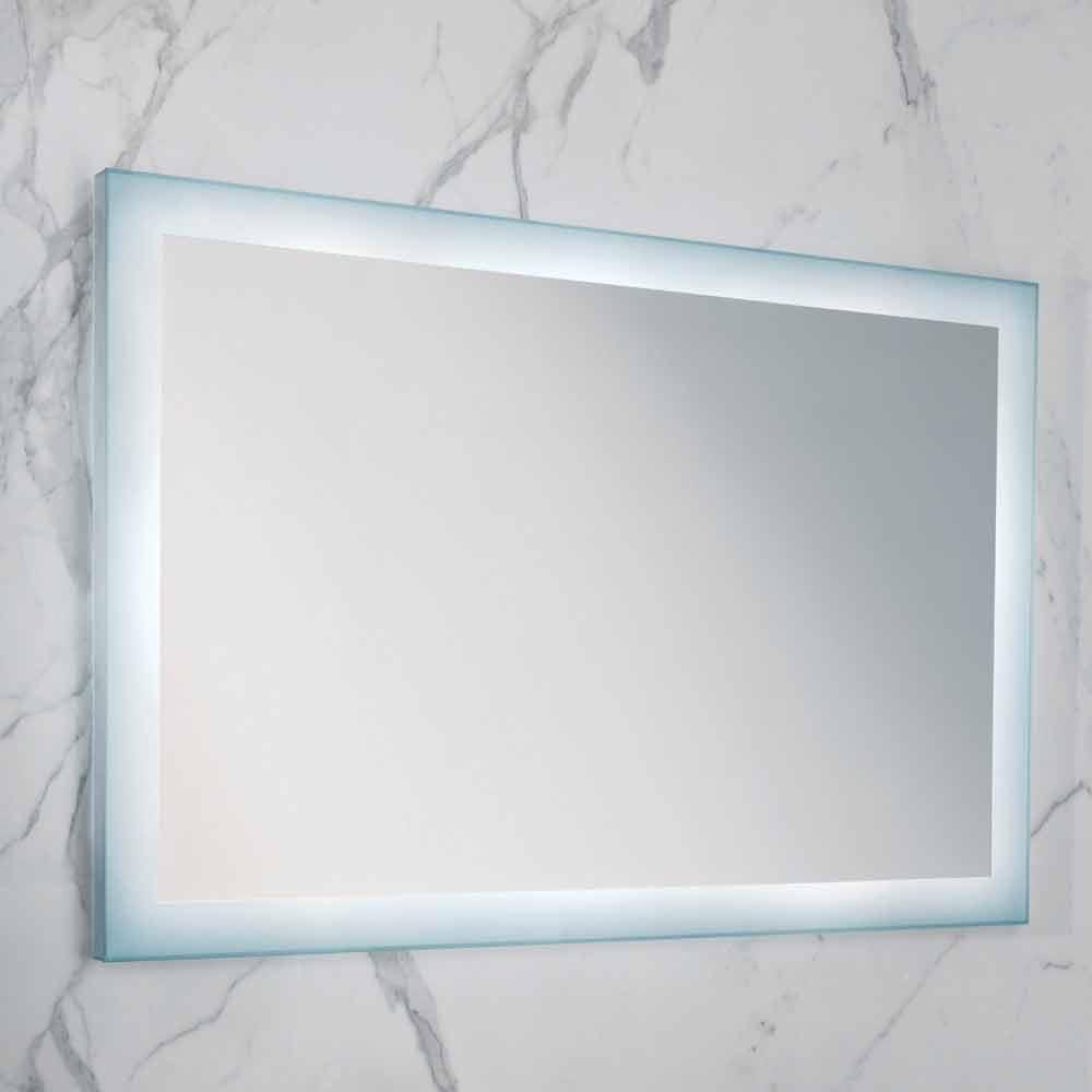 Miroir moderne avec des bords en verre d poli clairage - Miroir avec eclairage led ...