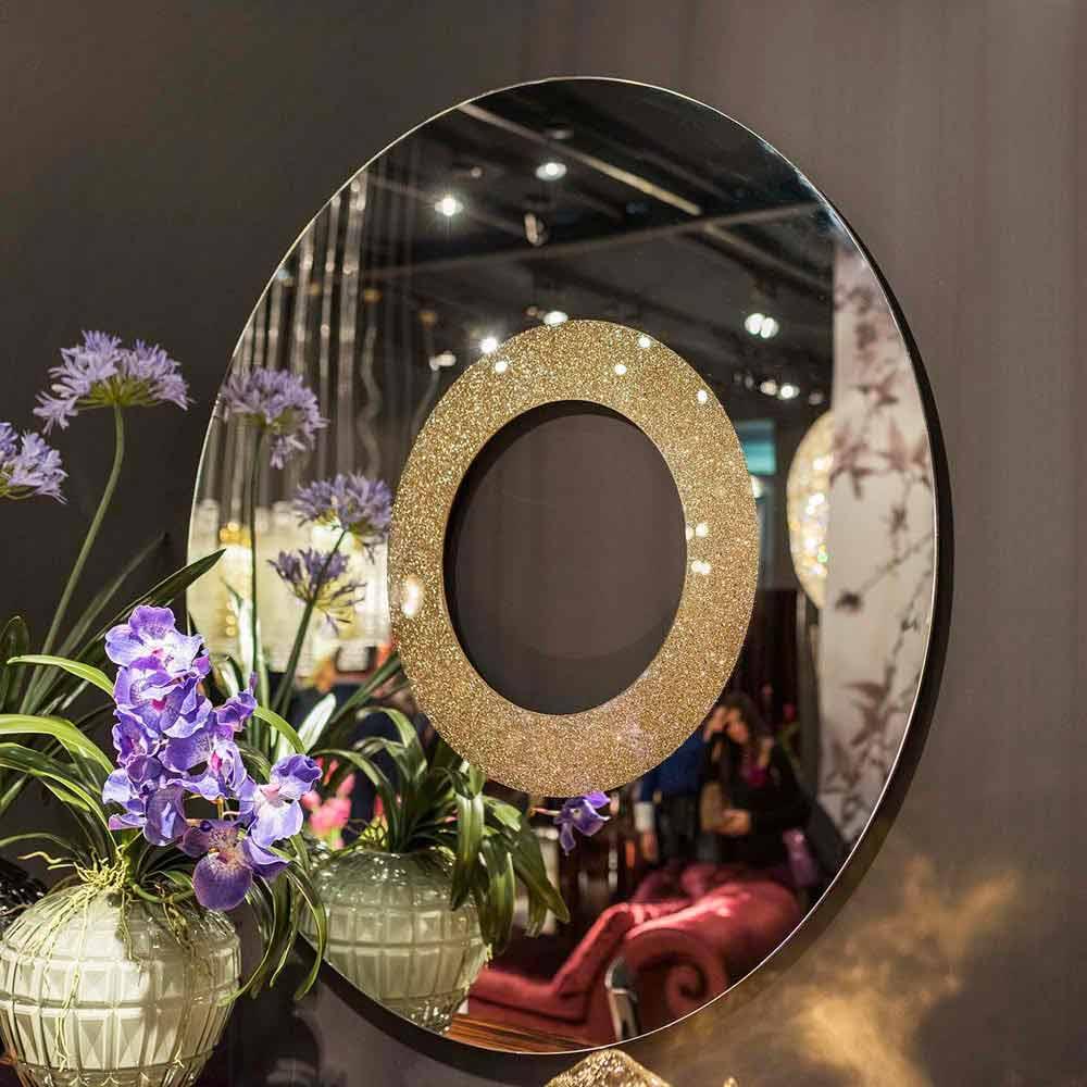 Miroir rond de design fait en italie aris for Miroir rond design