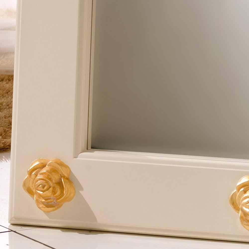 Miroir vertical de sol mural avec d corations abel fait la main for Miroir vertical mural design