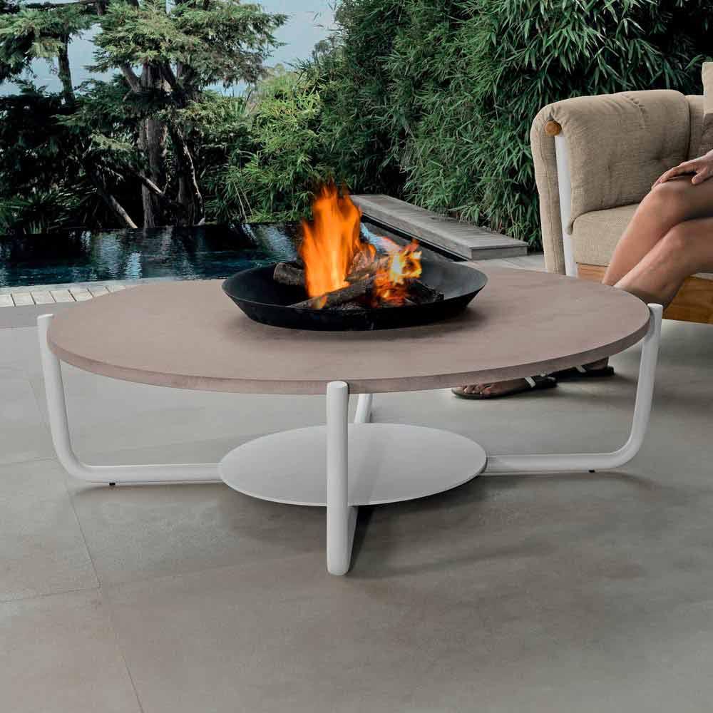 Talenti Domino table basse de café de jardin design faite en Italie