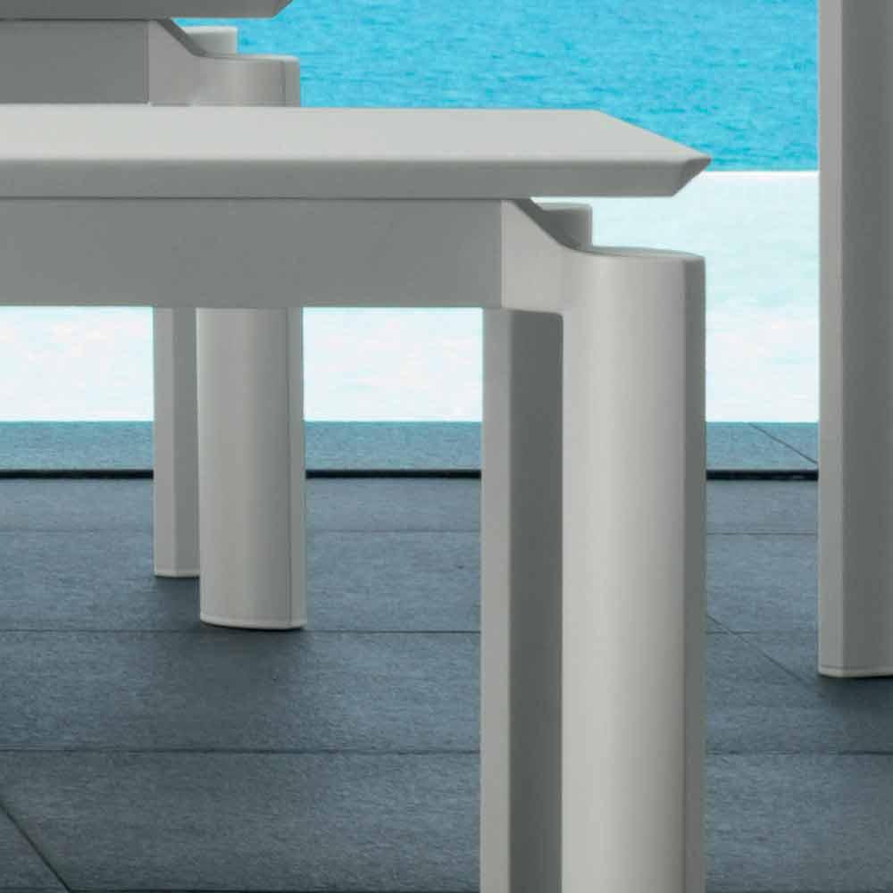 Talenti milo banc de jardin de design moderne produit en for Banc de jardin metal blanc