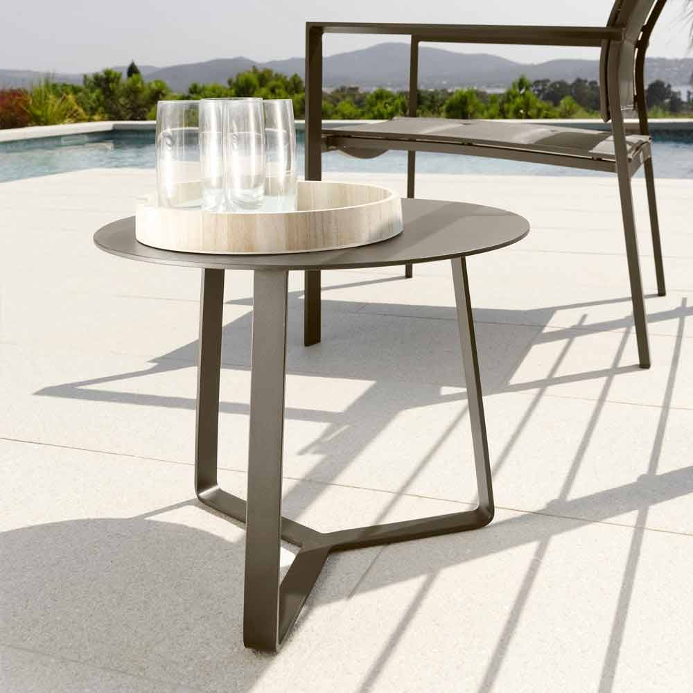 Talenti Touch table basse de jardin en aluminium d.45 faite en Italie