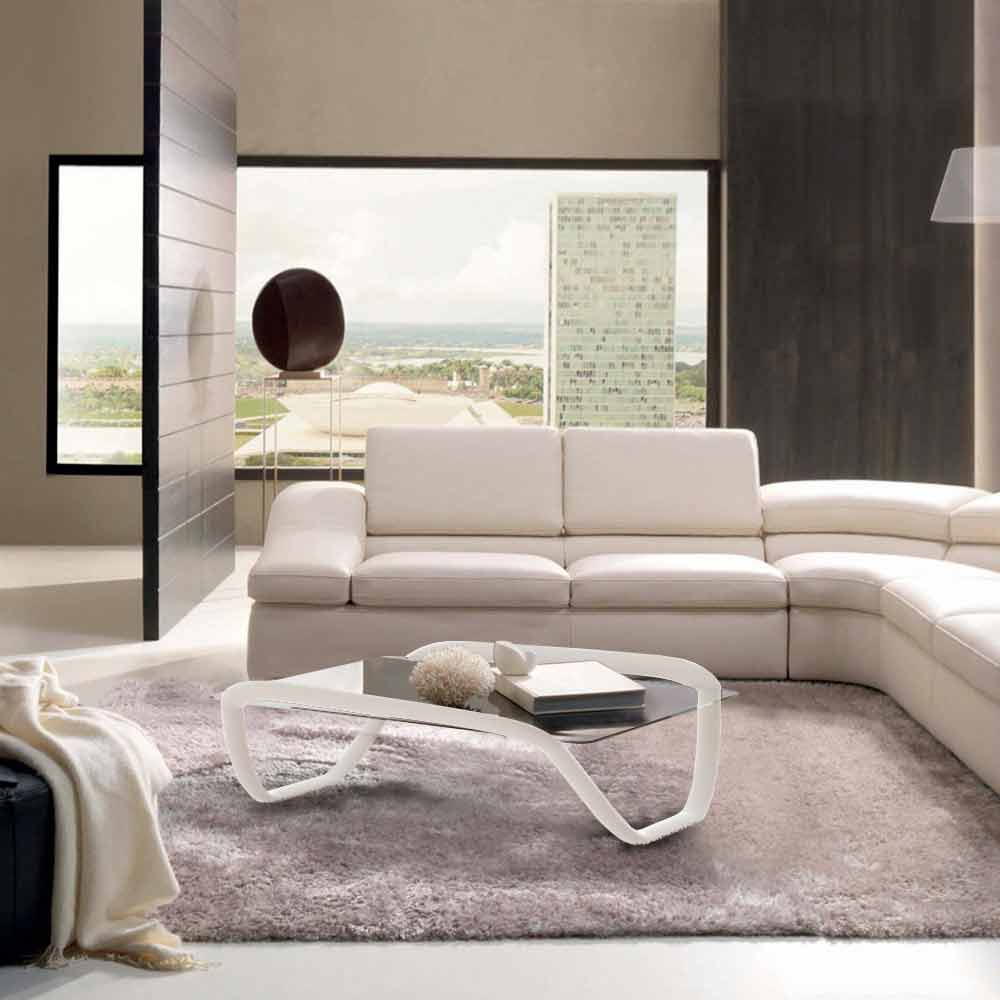 table basse blanche moderne en verre t adamantx continuum. Black Bedroom Furniture Sets. Home Design Ideas