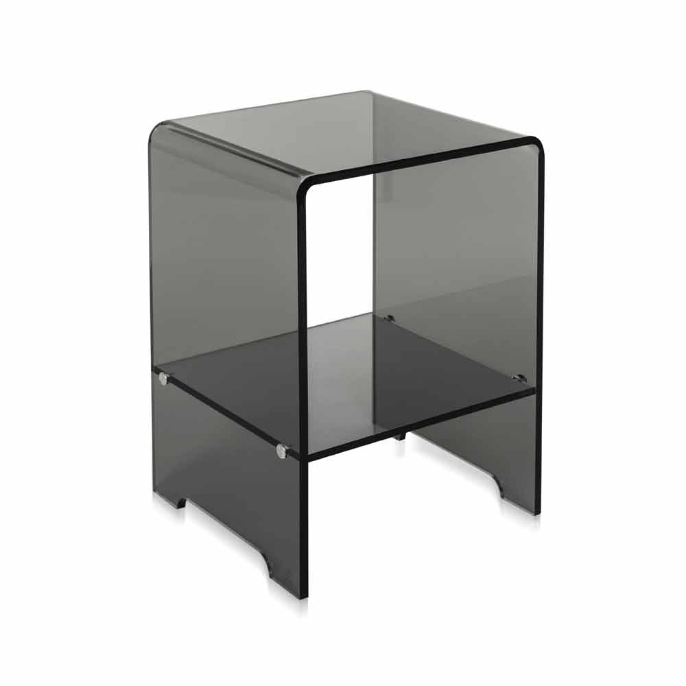 table d 39 appoint fum transparente mimi faite en italie tables basses modernes viadurini. Black Bedroom Furniture Sets. Home Design Ideas