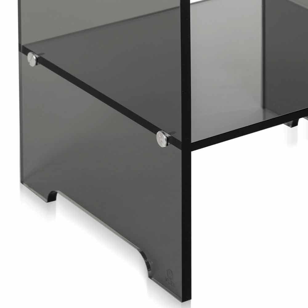 table d 39 appoint fum transparente mimi faite en italie. Black Bedroom Furniture Sets. Home Design Ideas