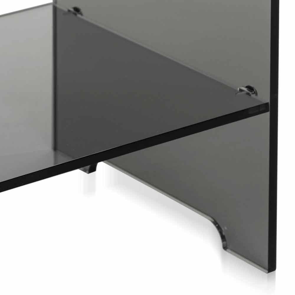 Table d 39 appoint fum transparente mimi faite en italie for Table de nuit transparente