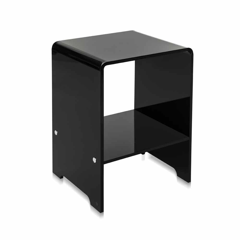 table d 39 appoint noire de design moderne mimi faite en. Black Bedroom Furniture Sets. Home Design Ideas