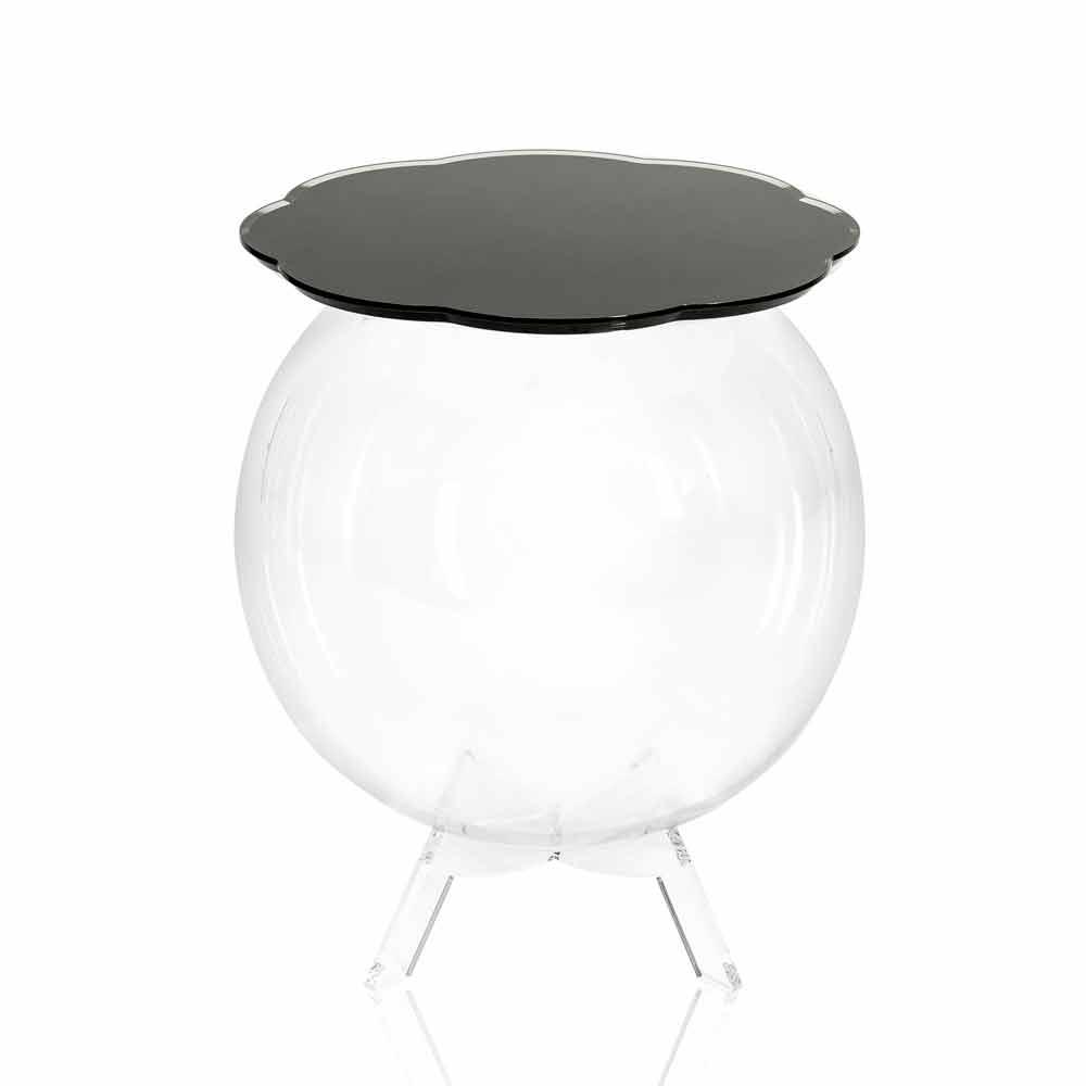 Table d 39 appoint de rangement noire ronde biffy faite en italie tables basses modernes viadurini - Table basse ronde rangement ...