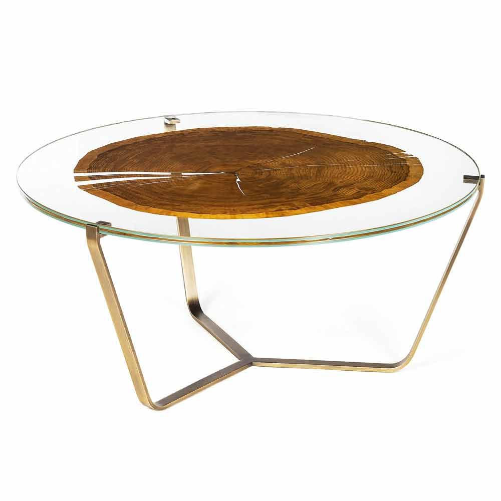 Table haute caf moderne avec plateau en verre et bois for Table haute en verre