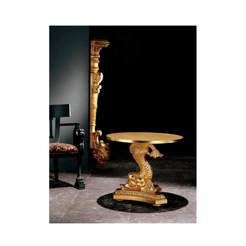 table basse de salon classique en bois massif sculpt232 224