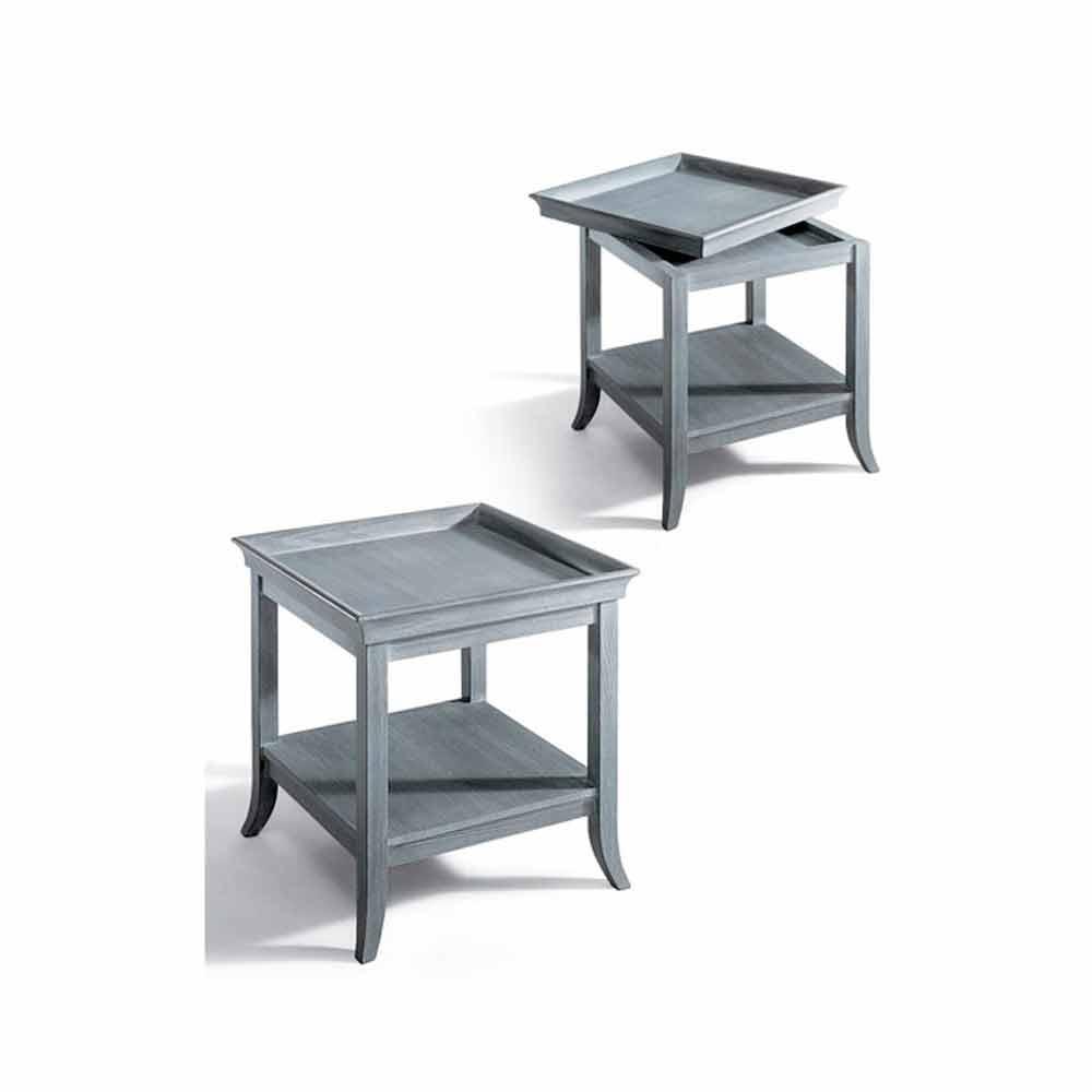 table basse de salon design en bois laqu gris 60x60 cm marcus. Black Bedroom Furniture Sets. Home Design Ideas