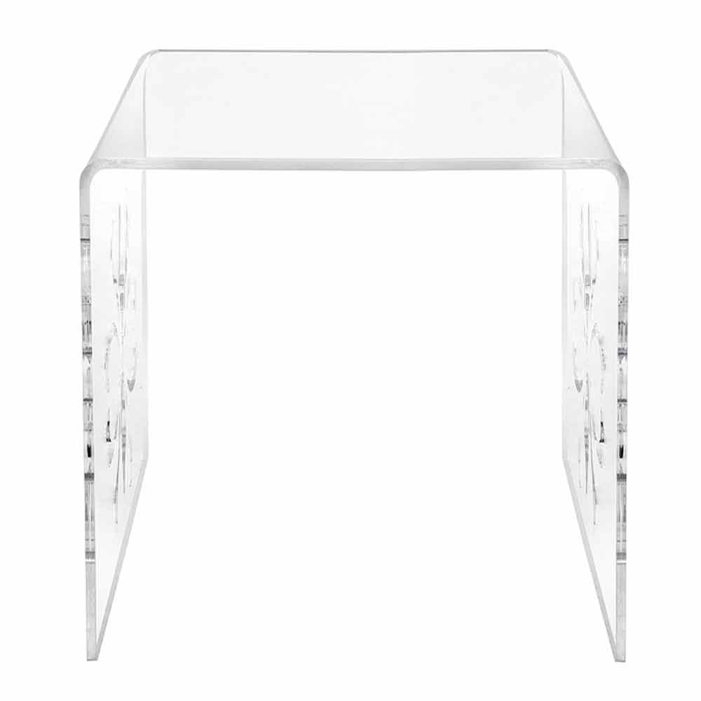 Petite Table De Salon Design En Plexiglas Transparent Mandas