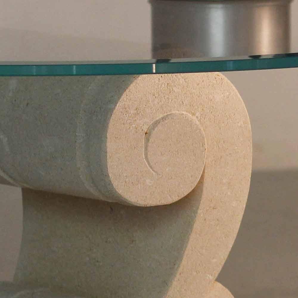 table basse ovale en pierre naturelle de vicenza et. Black Bedroom Furniture Sets. Home Design Ideas