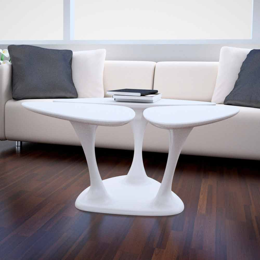 Table basse amanita design moderne made in italy par zad - Table basse ouvrable ...
