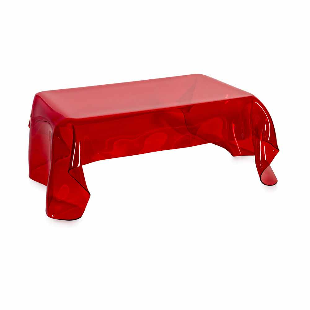 Table basse de design en plexiglas rouge asia faite en italie tables basses modernes viadurini - Table basse en plexi ...