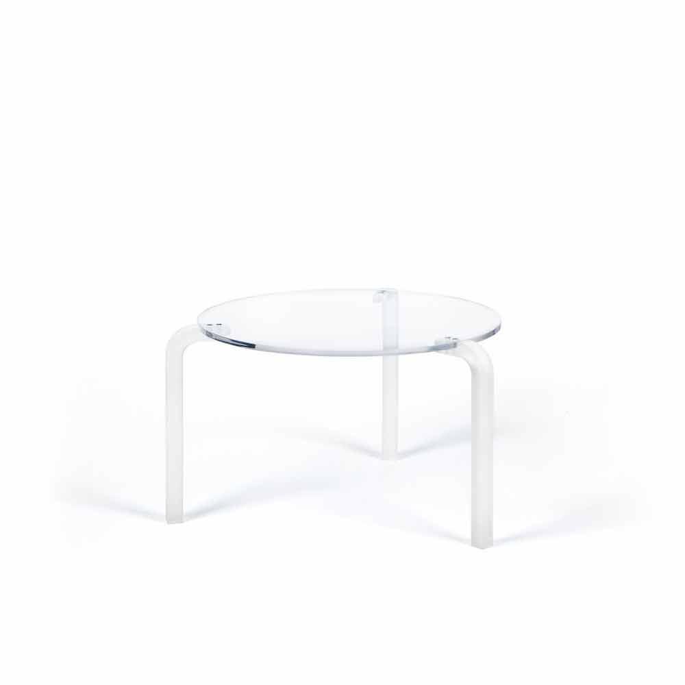 table basse moderne ronde haute en m thacrylate transparent armando. Black Bedroom Furniture Sets. Home Design Ideas