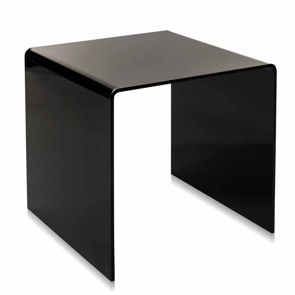 Table d 39 appoint noire moderne 50x50cm terry big faite en for Table d appoint moderne