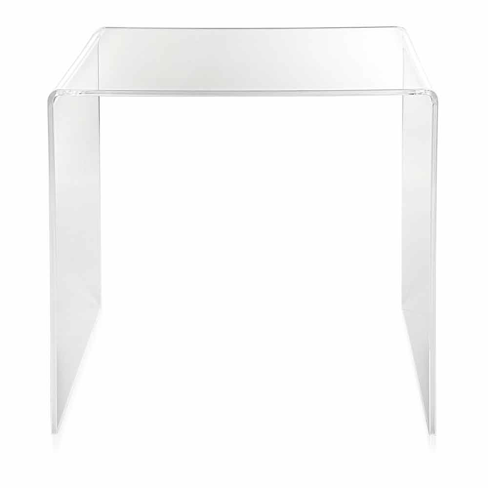 table d 39 appoint transparente 50x50cm terry big faite en italie tables basses modernes viadurini. Black Bedroom Furniture Sets. Home Design Ideas