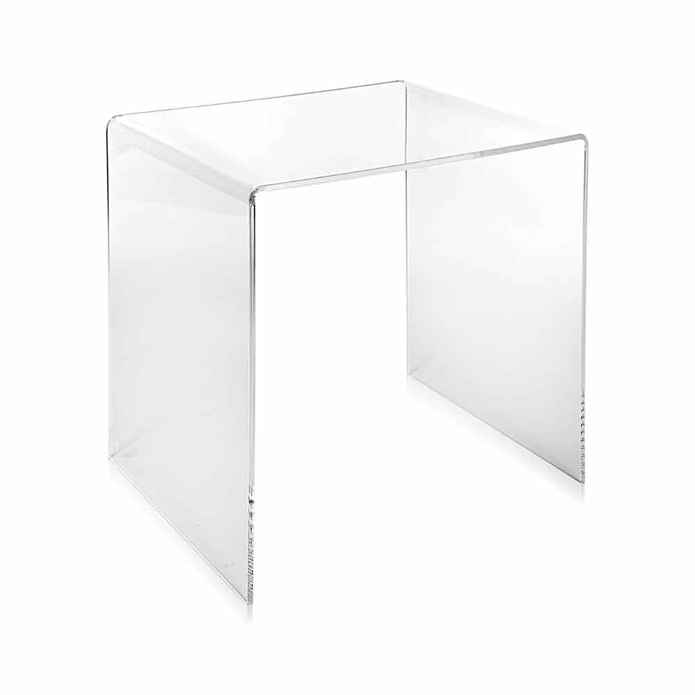 Table d 39 appoint transparente 50x50cm terry big faite en for Table d appoint transparente