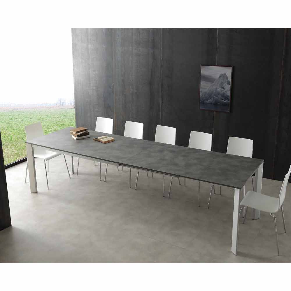 table rallonge urbino en aluminium extensible jusqu 39 3m de long. Black Bedroom Furniture Sets. Home Design Ideas