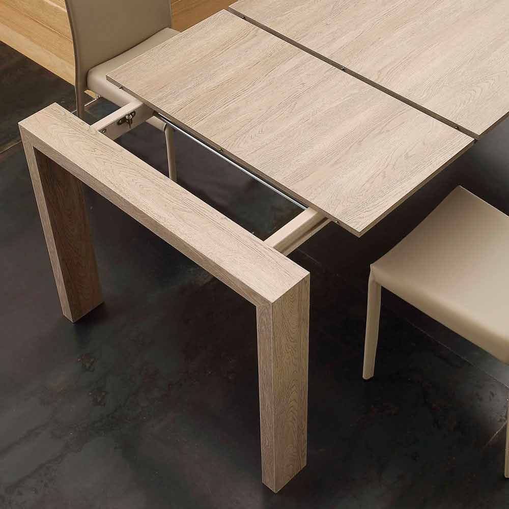 Table extensible jesi en mdf de design moderne for Table extensible en largeur