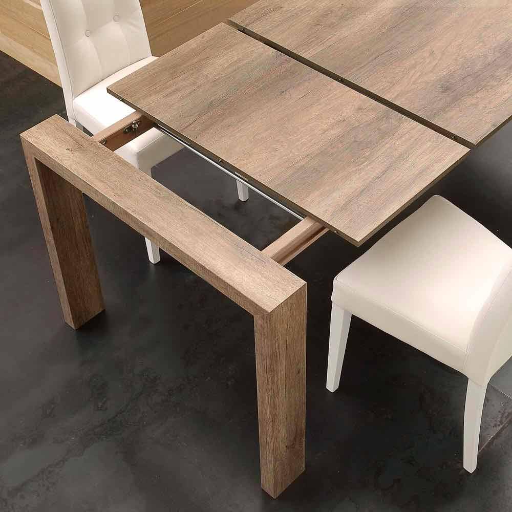 table extensible jesi en mdf de design moderne. Black Bedroom Furniture Sets. Home Design Ideas