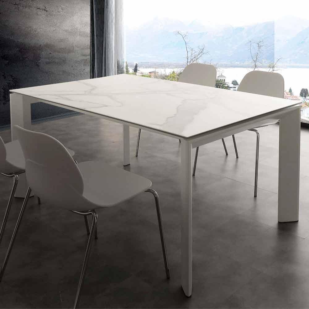 table rallonge de design filadelfia avec plateau en verre c ramique. Black Bedroom Furniture Sets. Home Design Ideas