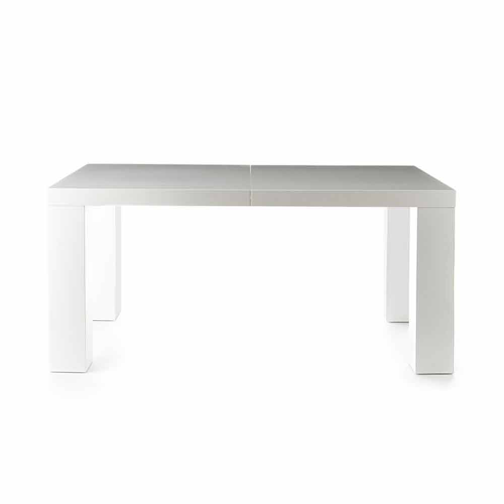 Table de salle manger extensible blanc mat demy de for Table salle a manger moderne design