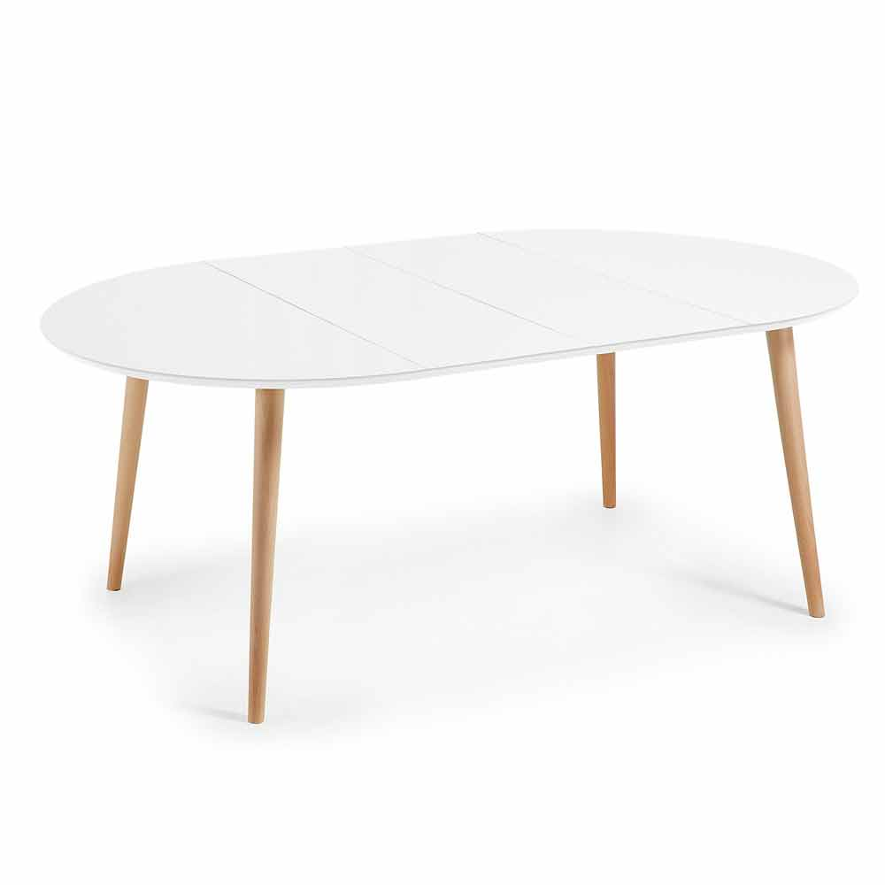Table ronde extensible design en bois upama for Table ronde extensible design