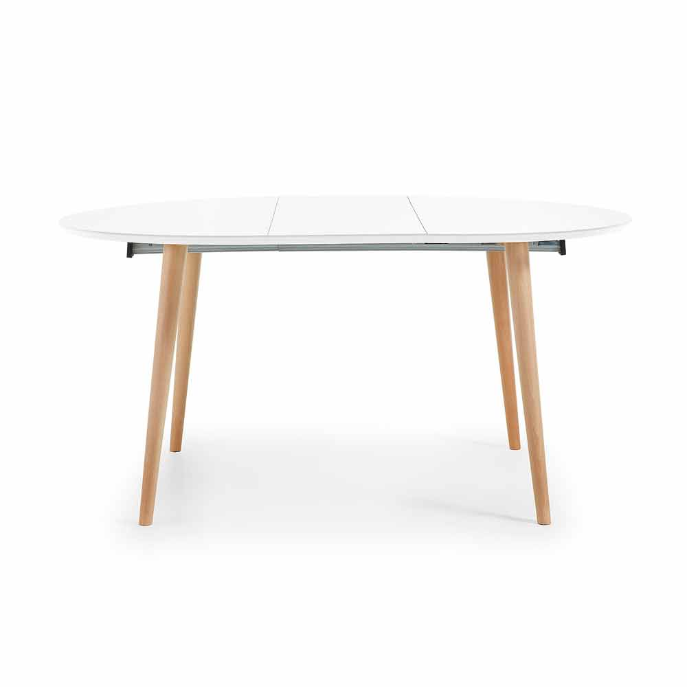 Table ronde extensible design en bois upama for Table ronde en bois extensible