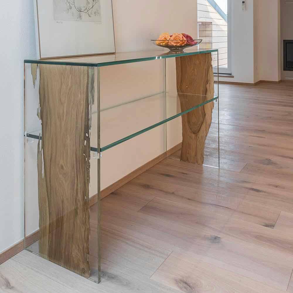 table console en bois de briccola de venise et verre fenice continuo. Black Bedroom Furniture Sets. Home Design Ideas