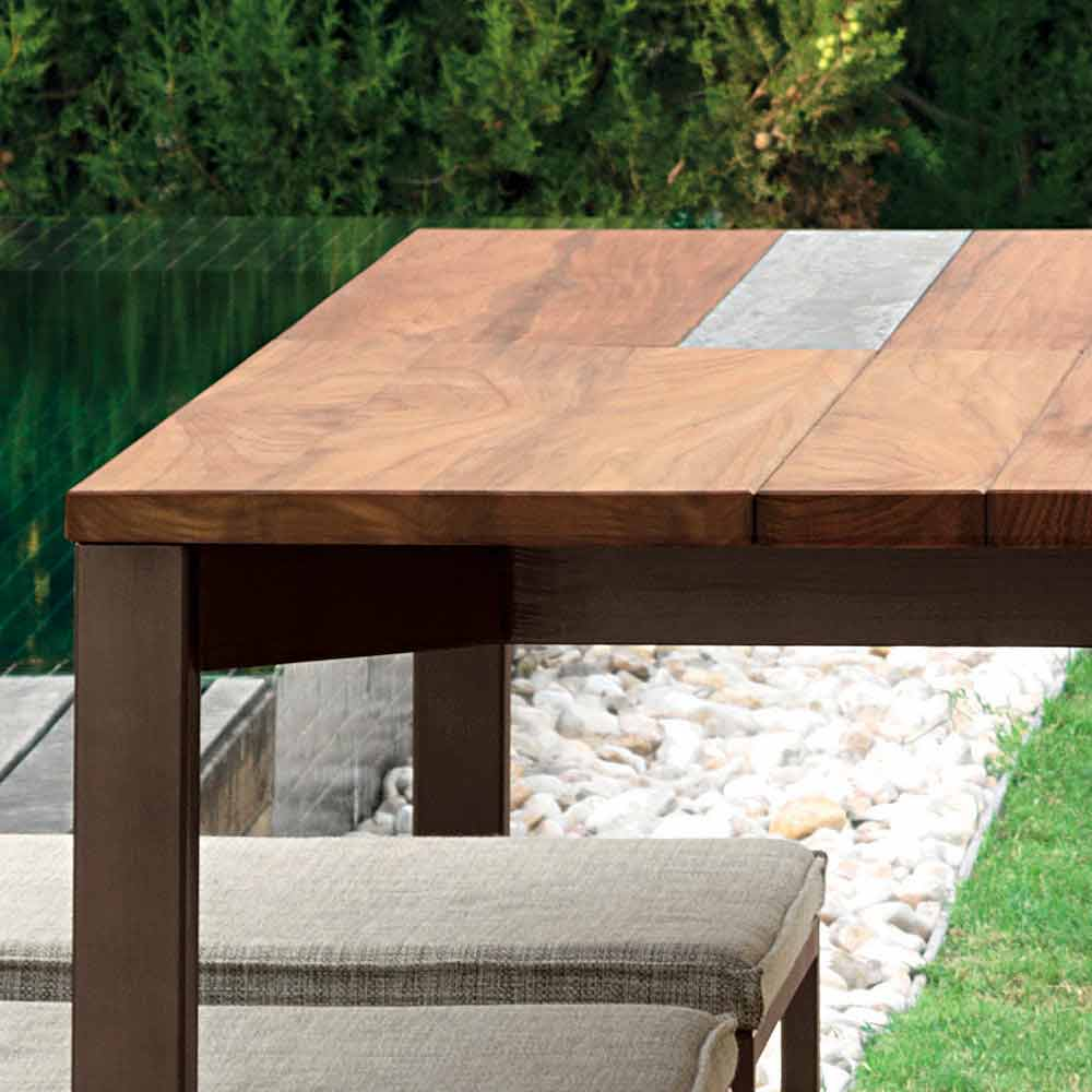 Table de jardin inox Casilda Talenti 150x150 cm