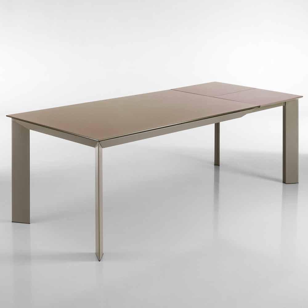 Table de salle manger extensible pardo h 76x90x160 220 cm for Table salle a manger 220 cm