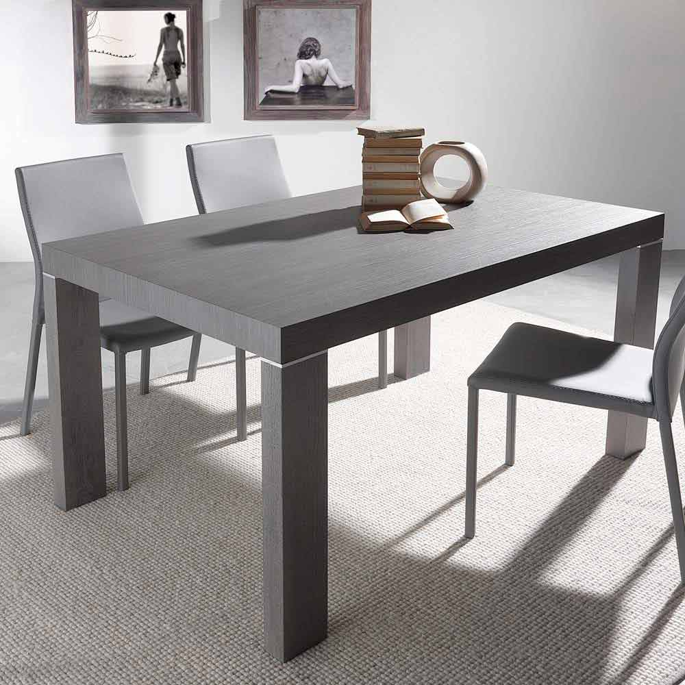 Table de salle manger extensible de design moderne totem for Table salle a manger moderne design