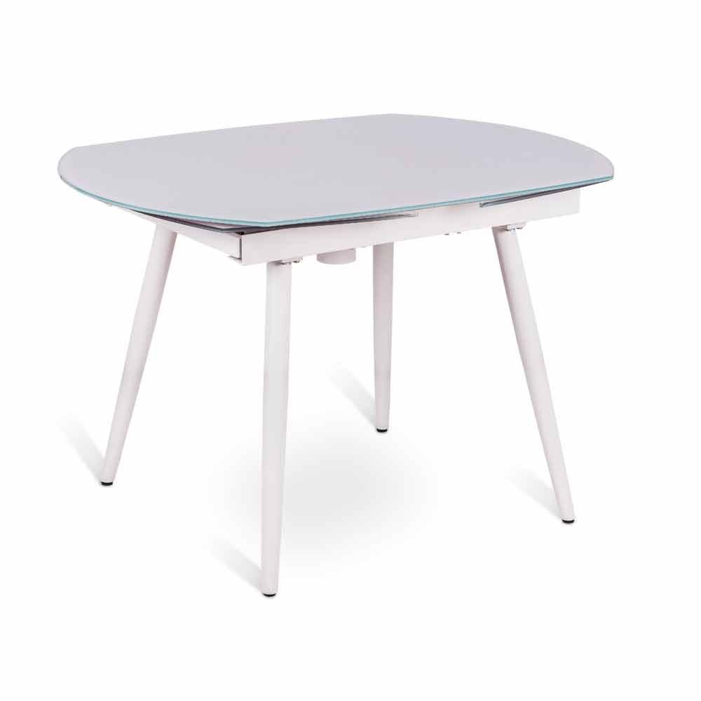 Table rallonge japan avec plateau en verre de design for Table a rallonge moderne
