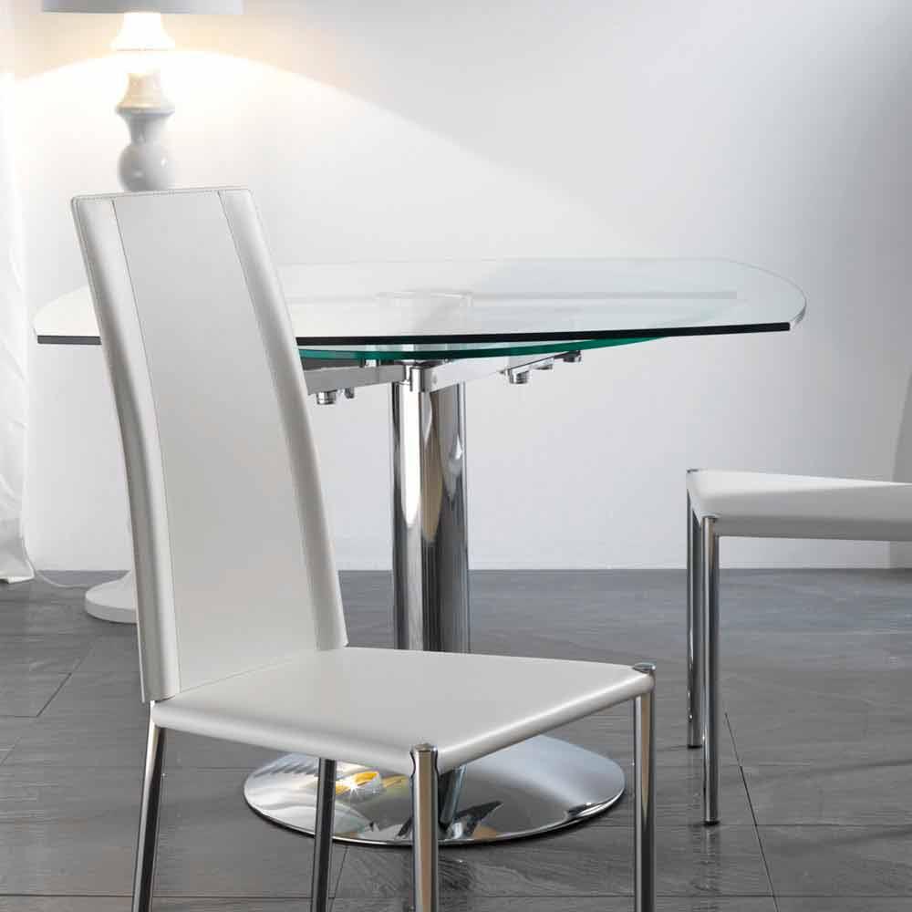 De À Manger Transparent Verre Trempé Table Onda Salle Extensible En SUzMpV