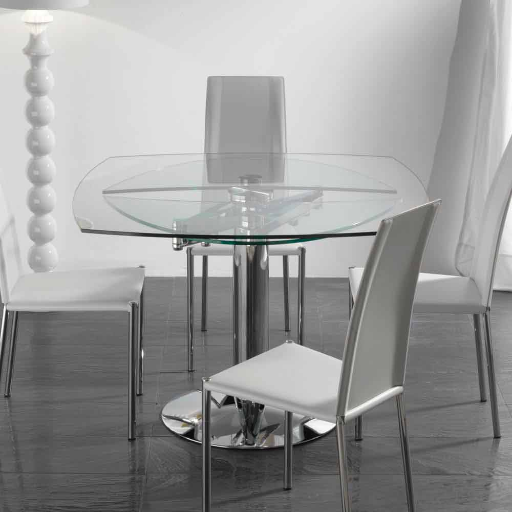 Table de salle manger extensible en verre tremp - Tavola da pranzo ...
