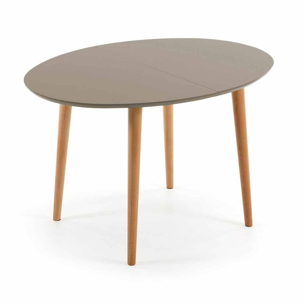 Table de salle manger ovale extensible en bois ian for Table en bois extensible