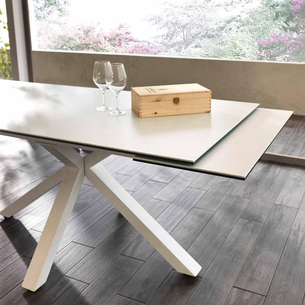 CéramiqueL Table Manger 160240xp 90 CmBacco À Verre Extensible L4AR53j